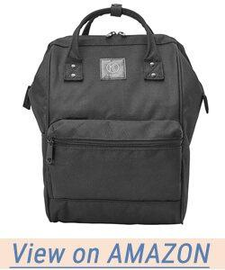 Kah&Kee Polyester Backpack with Laptop Compartment Waterproof Anti-theft Travel School for Women Man