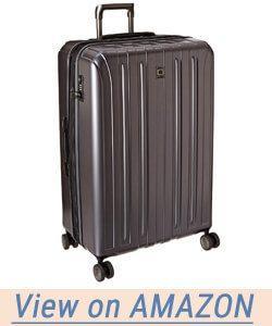 Delsey Helium Titanium 29 Exp Spinner Trolley Metallic Hard Case Suitcase