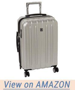 Delsey Helium Titanium Carry-on Exp Spinner Trolley Silver Hard Case Suitcase