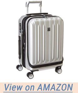Delsey Helium Titanium International Carry-on Exp Spinner Trolley Silver