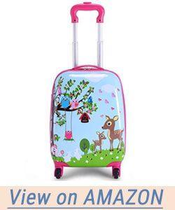 Goplus 2Pc Kids Carry On Luggage Set