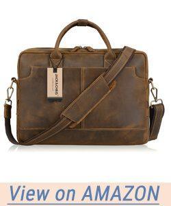 Jack&Chris New Genuine Leather Briefcase Messenger Bag Laptop Bag