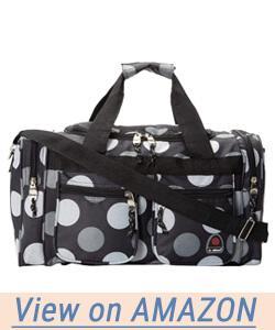 Rockland Luggage 19 Inch Tote Bag Big Black Dot