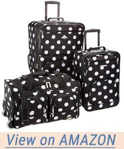 Rockland Luggage 3 Piece Printed Luggage Set