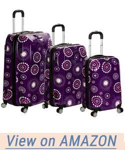 Rockland Luggage Vision Polycarbonate 3 Piece Luggage Set