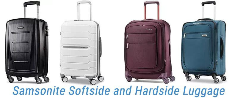 Samsonite Softside and Hardside Luggage