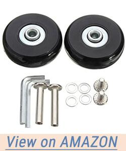 Yaphetss 1 Pair Luggage Suitcase Replacement Rubber Wheels