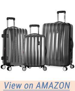Olympia Luggage Titan 3 Piece Spinner Hardside Set